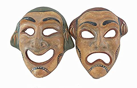 Ancient Greek theatrical Commedy Tragedy mask set quality artifacts