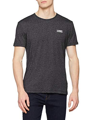 Tommy Jeans Herren Modern Jaspe  Kurzarm  T-Shirt Schwarz (Tommy Black 078) XX-Large (Herstellergröße: XXL) (Shirt Schwarz Tommy Hilfiger)
