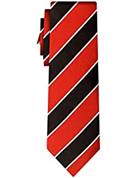 cravate rayée plain stripe red black w white (P)