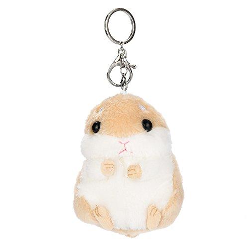 BBring Nette Plüsch Hamster Anhänger Schlüsselanhänger Schlüsselring Schlüsselanhänger Handtasche Dekor Blume (Braun)