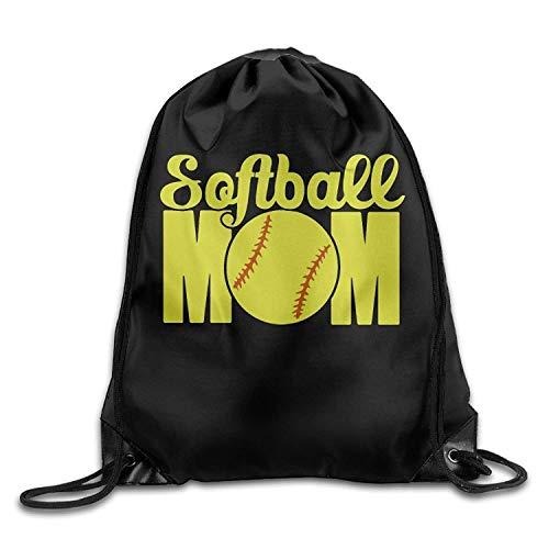 string Gym Softball Mom Drawstring Backpack Beam Mouth School Travel Backpack Rucksack Shoulder Bags for Men/Women ()