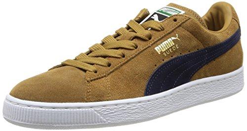 Puma Suede Classic +, Sneakers basses mixte adulte, Marron (Bistre/Peacoat), 43 EU