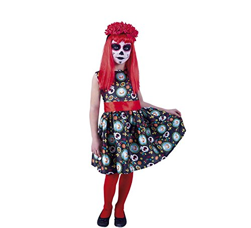 Rubie's Catrina Guadalupe Kostüm für Mädchen S-(3/4 - La Catrina Kostüm Mädchen