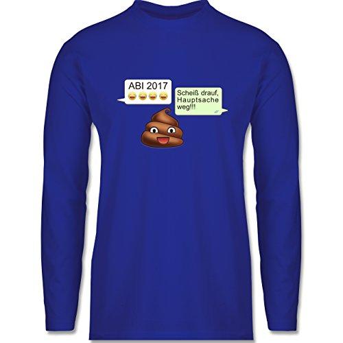 Abi & Abschluss - ABI 2017 - Scheiß drauf Messenger - Longsleeve / langärmeliges T-Shirt für Herren Royalblau