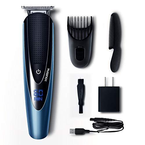 Solimpia Bartschneider Bart Trimmer Haarschneidemaschine Haarschneider Herren Profi Haartrimmer Rasieren Präzisionstrimmer Männer Wasserdichter USB Wiederaufladbar Akku