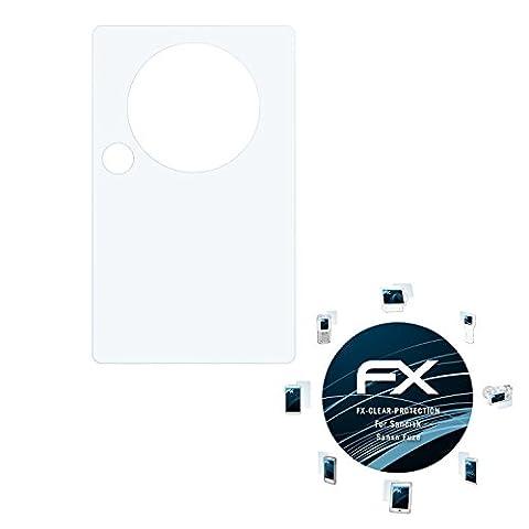 Sandisk Sansa Fuze Schutzfolie - 3 x atFoliX FX-Clear kristallklare Folie Displayschutzfolie