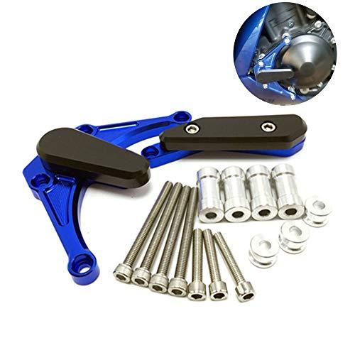 CHUDAN R1 Cubierta del Motor de la Motocicleta Protección del Motor Cubierta del estator CNC Aluminio para Yamaha YZF-1000 R1 09-14,Blue