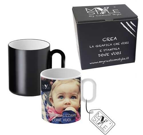 Tazza magica in ceramica personalizzabile con foto e testi