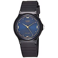 Casio Men's MQ76-2A Black Resin Quartz Watch with Blue Dial