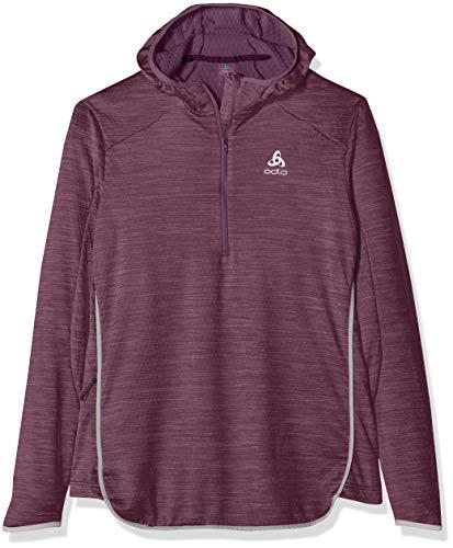 Odlo Damen Hoody Midlayer 1/2 Zip STEAM Pullover, Vintage Violet Melange, XS 1/2 Zip Hoody