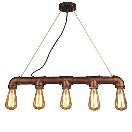 Hwamart  HL427 fünf Kopf Edison E27 Kupferrohr industrielle Steampunk-Anhänger Jahrgang rustikalen Deckenleuchte Lampe