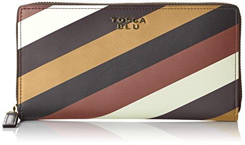 Tosca BluBLOSSOM TEA, Portafoglio, Donna, Multicolore (DARK BROWN/MULTICOLOR 60R), 20x10x3 cm (B x H x T)