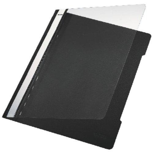Leitz 4191-95 Schnellhefter A4 schwarz Plastik ohne Falz