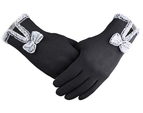 Bequemer laden guanti donna invernali caldi, guanti da donna touchscreen, taglia unica