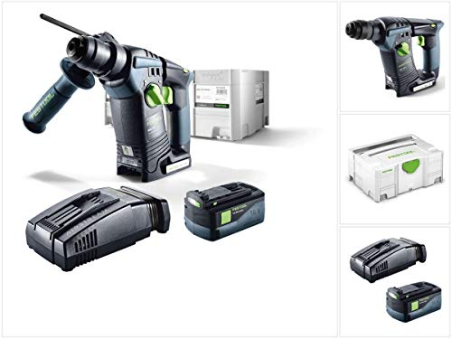 Festool BHC 18 Li Basic Taladro Inalámbrico en Systainer + 1 x BP 18 Li 5,2 AS Li-lon batería...
