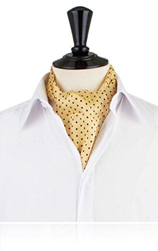 Krawattenschal, gelb, blaue Tupfen