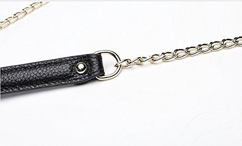 Handbeutel, weibliche Handbeutel, Art und Weisetendenzleder großer Kapazitätsfaltblatt, Abendumschlagbeutel ( Farbe : Schwarz ) Grau