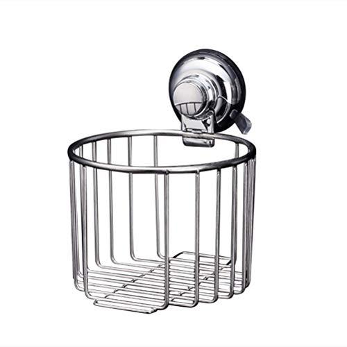 Vosarea Edelstahl Duschkorb ohne Bohren Seifenkorb Schwammhalter Papierhalter mit Saugnapf Korb für WC Badzimmer Küche Toiletten (Silber) - Hotel Wc Papierhalter