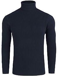 Jersey de Punto Hombre Básico Casual para Hombres Acanalado Jersey de Punto  Slim fit 0bd7d45f609e