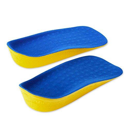 ELEFT Männer Frauenhöhe Erhöhung Socken Einlegesohlen Blau - Schuheinlagen Füße Gute