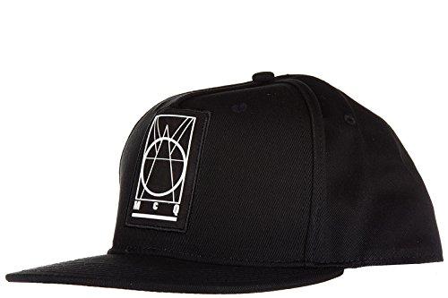 MCQ Alexander McQueen cappello berretto regolabile uomo in cotone originale nero