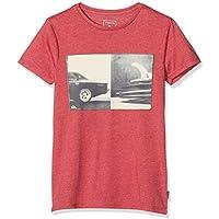 Quiksilver High Speed Pursuit - Camiseta para Chicos 8-16 Camiseta, Niños, Garnet Heather, XS/8