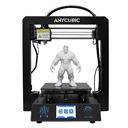 Stampante 3D ANYCUBIC I3 Mega grande formato di stampa 210 x 210 x 205mm tutta in Metallo con Ultrabase brevettato brevettato e Touch Screen da 3,5 pollici Compatibile con PLA, ABS, HIPS, Legno