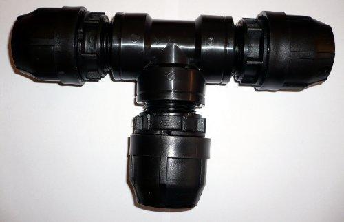 Tuyau Té Compression (7 tailles différentes) 40mm To 32mm x 32mm