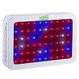 JS Products LED Pflanzenlampe,600W Doppel Chips Full Spectrum Pflanzenlicht Veg...