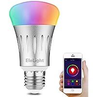 Elelight Lampadina Intelligente Wifi LED 7W E27 Dimmerabile Controllo Vocale Colore Luce Multifunzionale Funziona con ALEXA/Google Assistant per iOS/Android