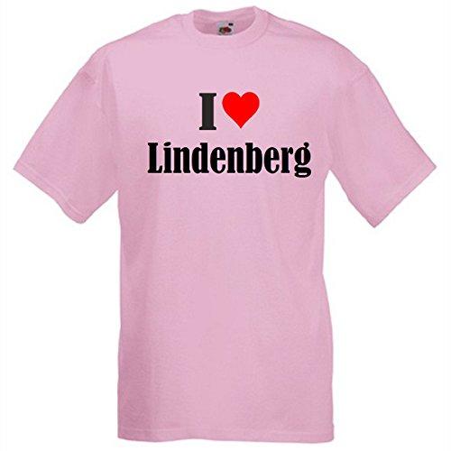 """T-Shirt """"I Love Lindenberg"""" für Damen Herren und Kinder in Pink Pink"""