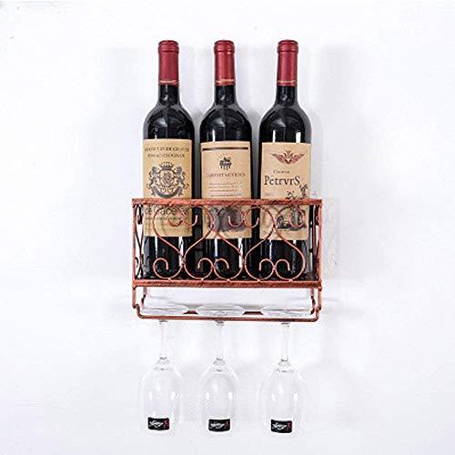 Weinregal Bronze Einfache Moderne Wein Weinkühler Hängende Schmiedeeisen Weinglas Rack Upside Down...