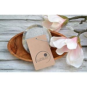 Abschminkpads aus Bio-Baumwolle, waschbar, 10 Stück, Kosmetikpads, wiederverwendbare Wattepads, Gesichtsreinigung, umweltfreundlich, nachhaltig, Zero Waste, hellgrau, Lunaciel