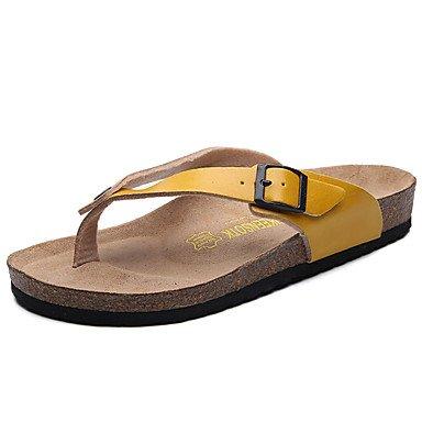 Athletic Shoes Uomo Primavera Autunno PU comfort casual piani del tallone nero sandali bianco camminare sandali US8.5-9 / EU41 / UK7.5-8 / CN42