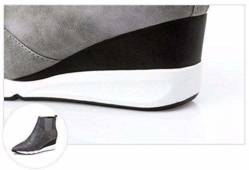 FLYRCX In autunno e in inverno, onorevoli appuntita scarpe sexy tacchi spessi stivali caldi B