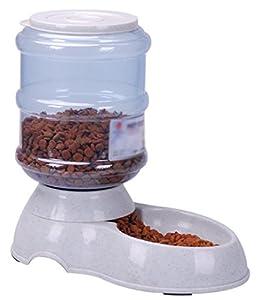 Toruiwa Distributeur d'eau et de Nourriture pour Chien Chiot Chat 3.5L