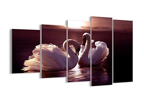 Quadro su vetro - cinque 5 tele - larghezza: 150cm, altezza: 100cm - numero dell'immagine 0223 - pronto da appendere - elementi multipli - Arte digitale - Moderno - Quadro in vetro - GEG150x100-0223