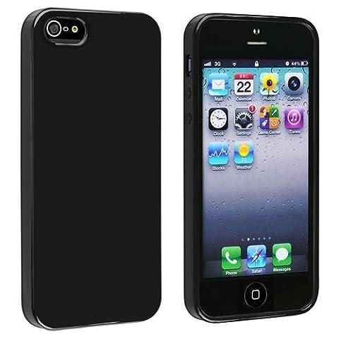 schwarz iphone5s TPU Hülle für Apple Iphone 5 Gummi Schutz Schale iphone 5s hülle weichen Silica Gel
