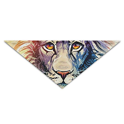 Gxdchfj Abstract Lion Oil Painting Art Triangle Pet Scarf Dog Bandana Pet Collars Dog Cat - Birthday