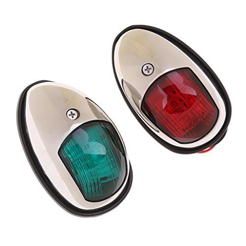 MagiDeal 2 x LED Feux de Navigation Bateau Marine Yatch Rouge Vert Lumière 12V 5W