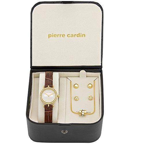 Pierre Cardin Uhr Geschenk Set Schmuck Damen Gold