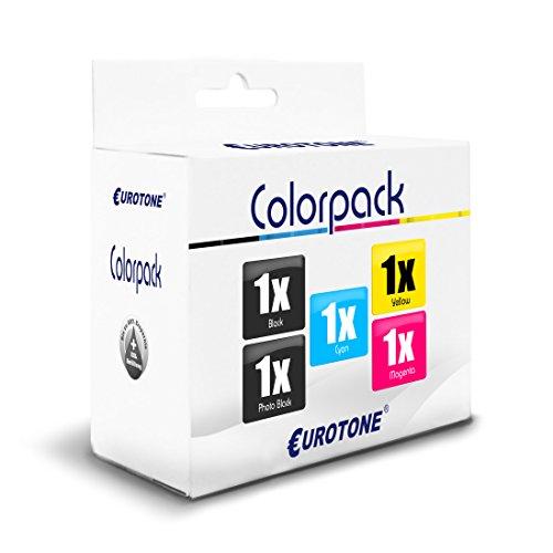 5x Eurotone Cartucho para Epson XP 510 520 605 610 615 620...