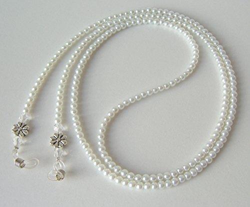 Goggle cinghia / occhiali catena di perle di vetro