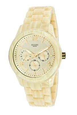 Guess MINI SPECTRUM W13572L2 - Reloj cronógrafo de cuarzo para mujer, correa de plástico color dorado (cronómetro)