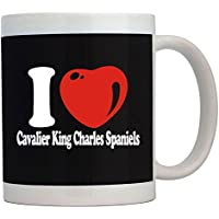 Teeburon I LOVE Cavalier King Charles Spaniels Tazza