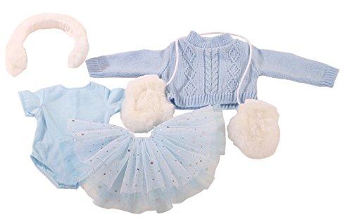 Götz 3402602 Kombination Skating - Schlittschuh Outfit Puppenbekleidung Gr. XL - 5-teiliges Bekleidungs- und Zubehörset für Stehpuppen von 45-50 cm