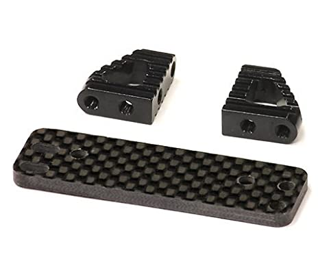 Integy Hobby RC Model C23952BLACK Type II Billet Machined Alloy+Graphite Servo Mount for Axial Wraith