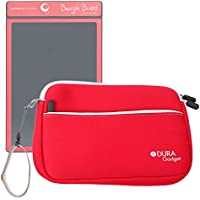 DURAGADGET Red Protective Neoprene Carry Case For Boogie Board 8.5 Inch, Boogie Board JOT 8.5 Inch & Personal Organiser (All Colours) With Front Zip Pocket