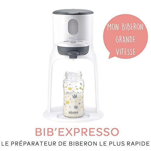 BÉABA Préparateur de Biberon Instantané Bib'Expresso, Gris