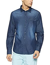 Diverse Men's Solid Regular Fit Cotton Casual Shirt
